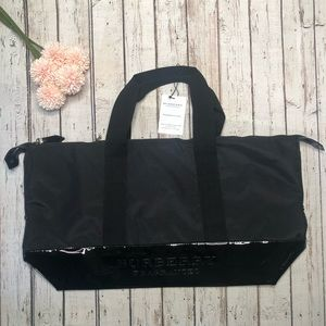 Burberry Black Weekender Bag NWT